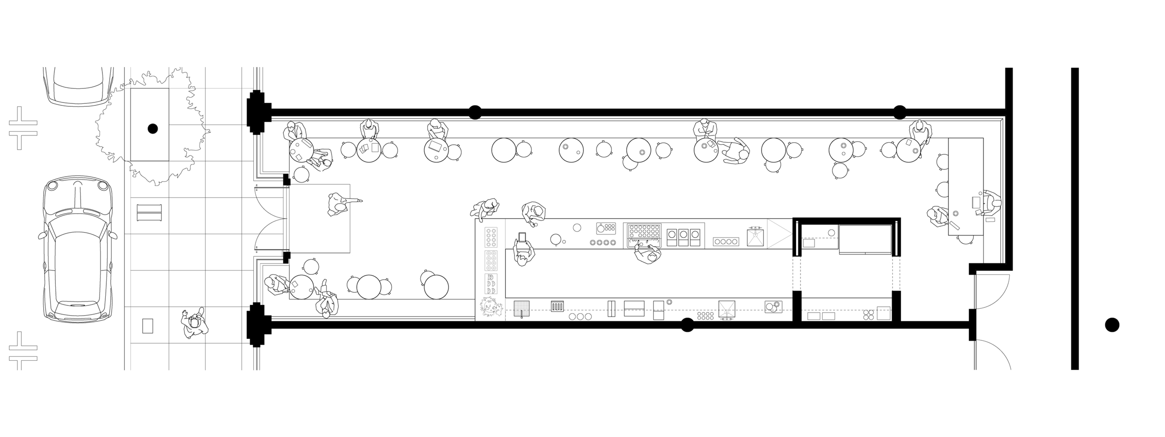 Coffee Shop. Floor plan