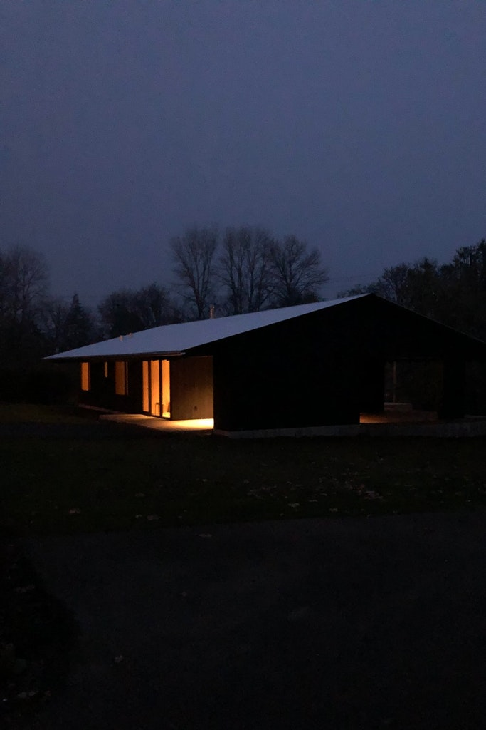 Divine House. At night
