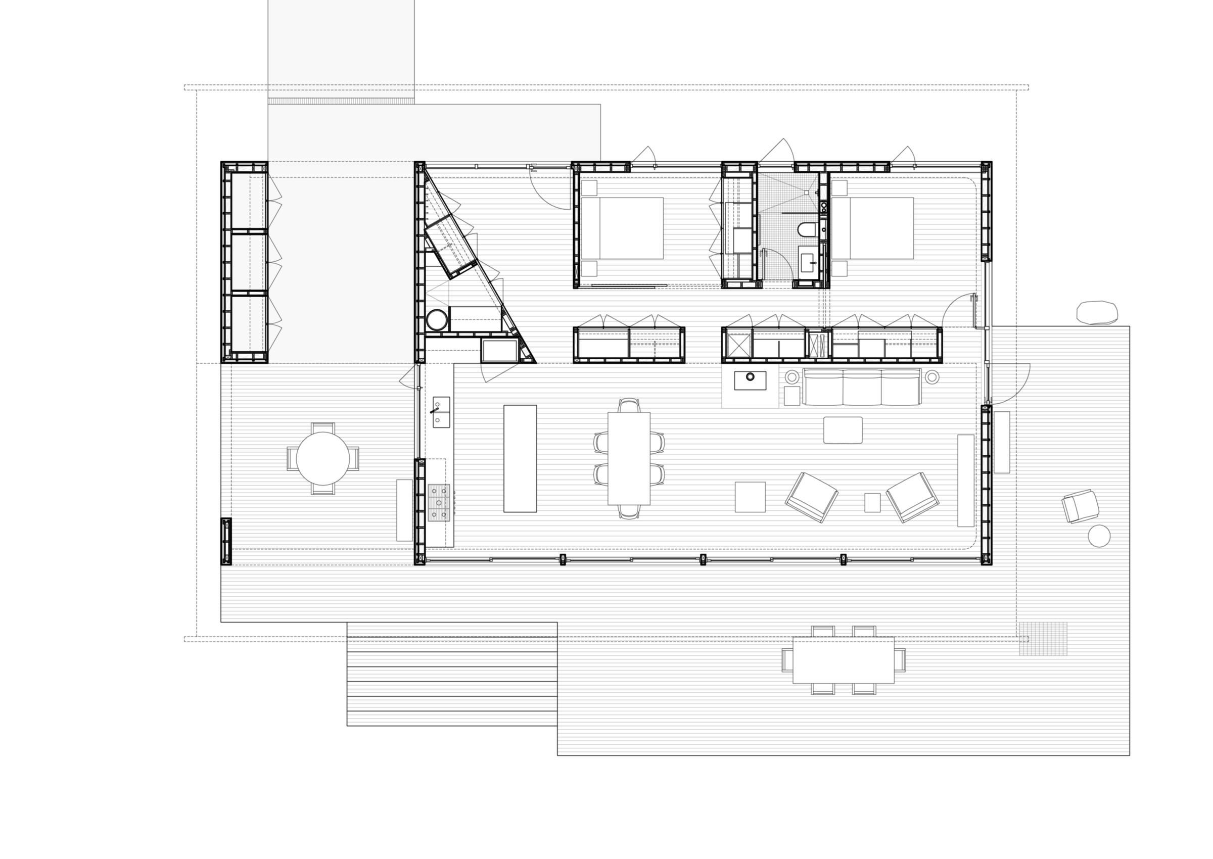 Divine House. Floor plan