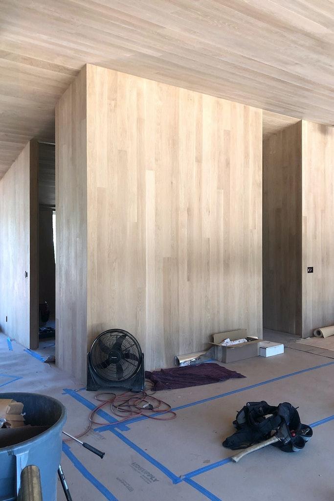 Divine House. Interior volumes under construction