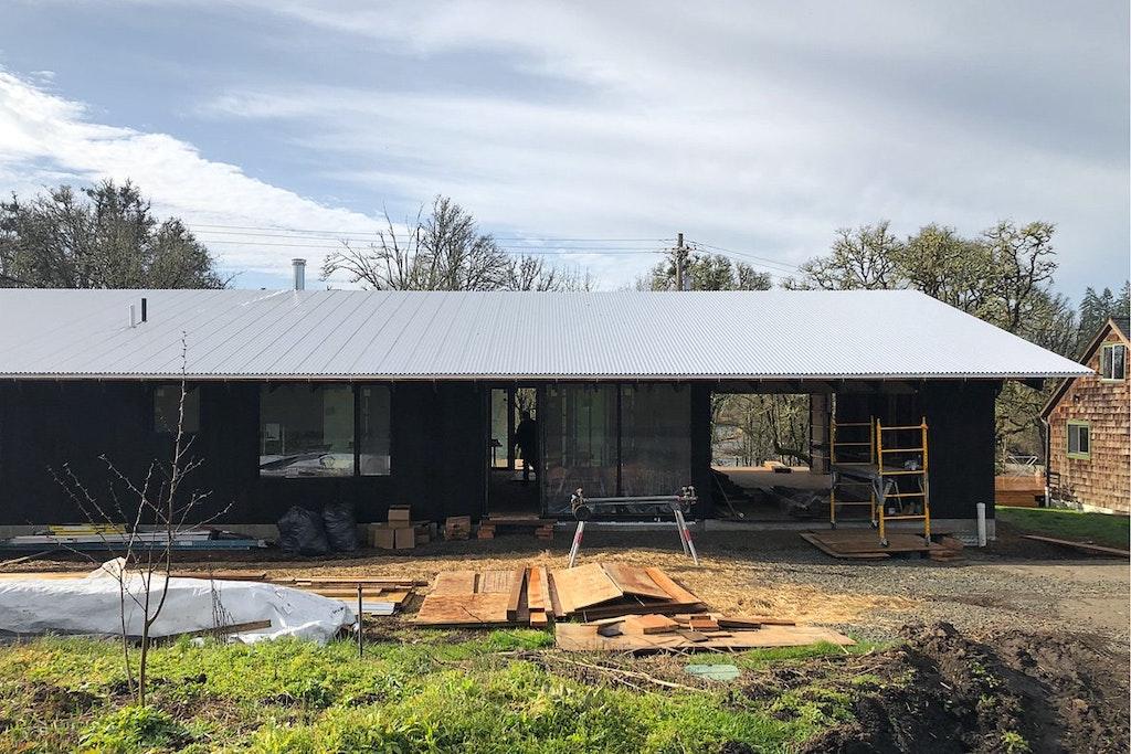 Divine House. North facade under construction