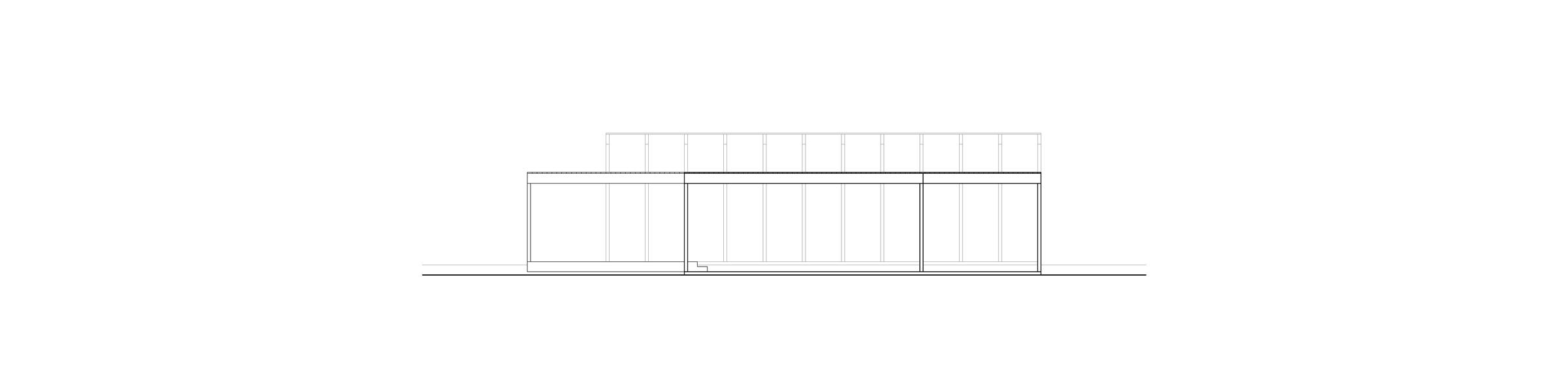 East Amazon Studio. South elevation