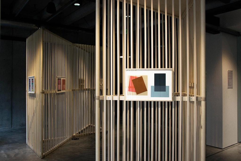 Josef Albers Exhibition. Detail view at the University of Washington