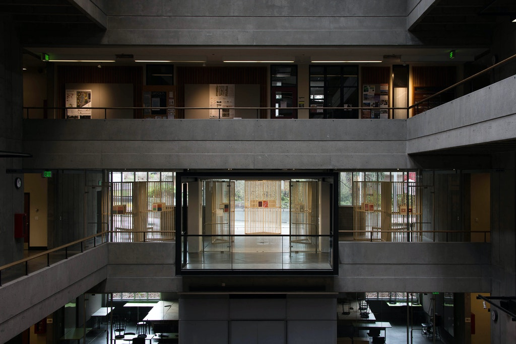 Josef Albers Exhibition. Overall view at the University of Washington
