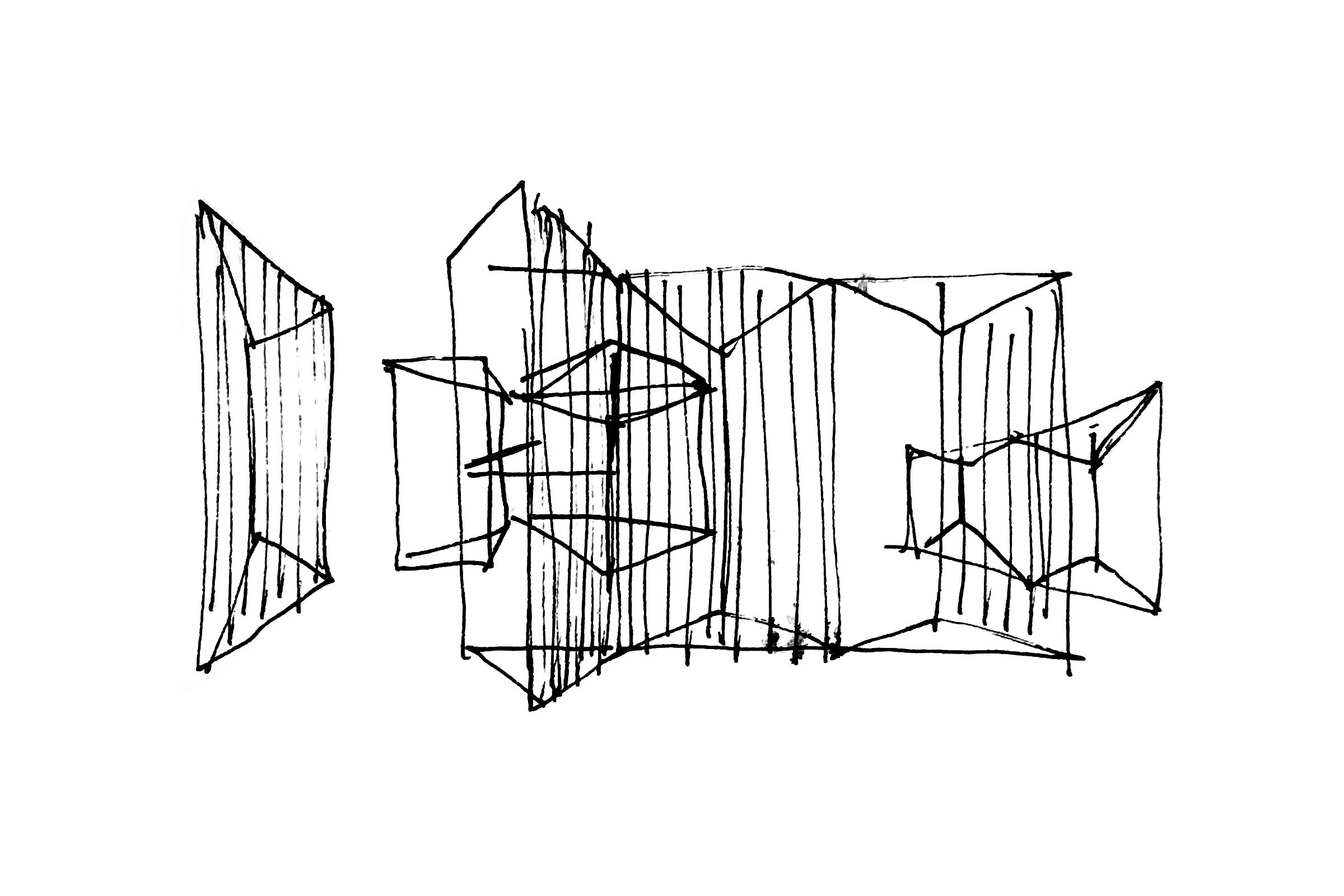 Josef Albers Exhibition. Preliminary sketch