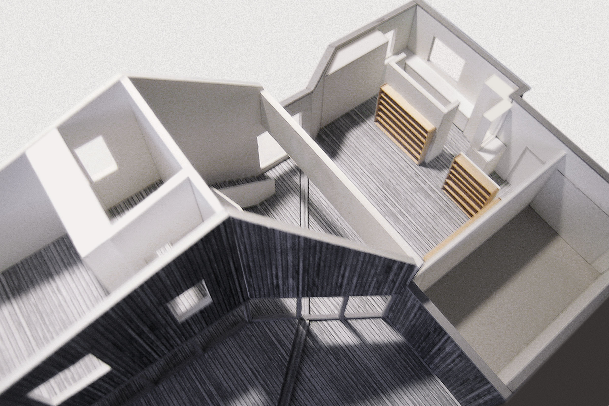 M House. Model without roof