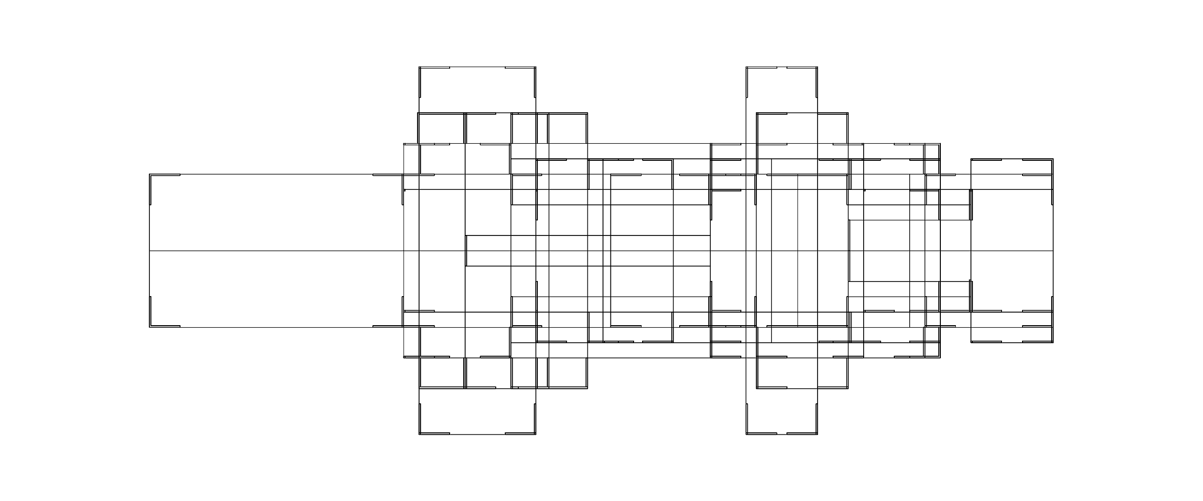 Mies Remix. Superimposed elevations