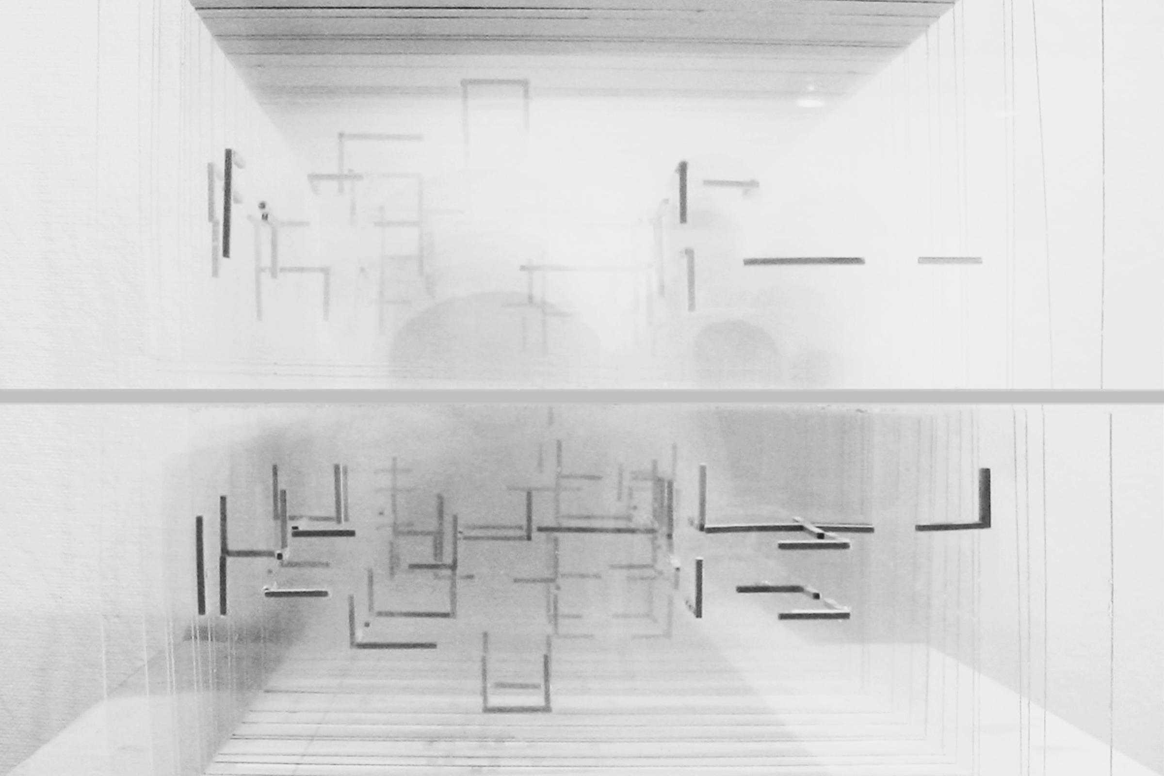 Mies Remix. Model, elevation