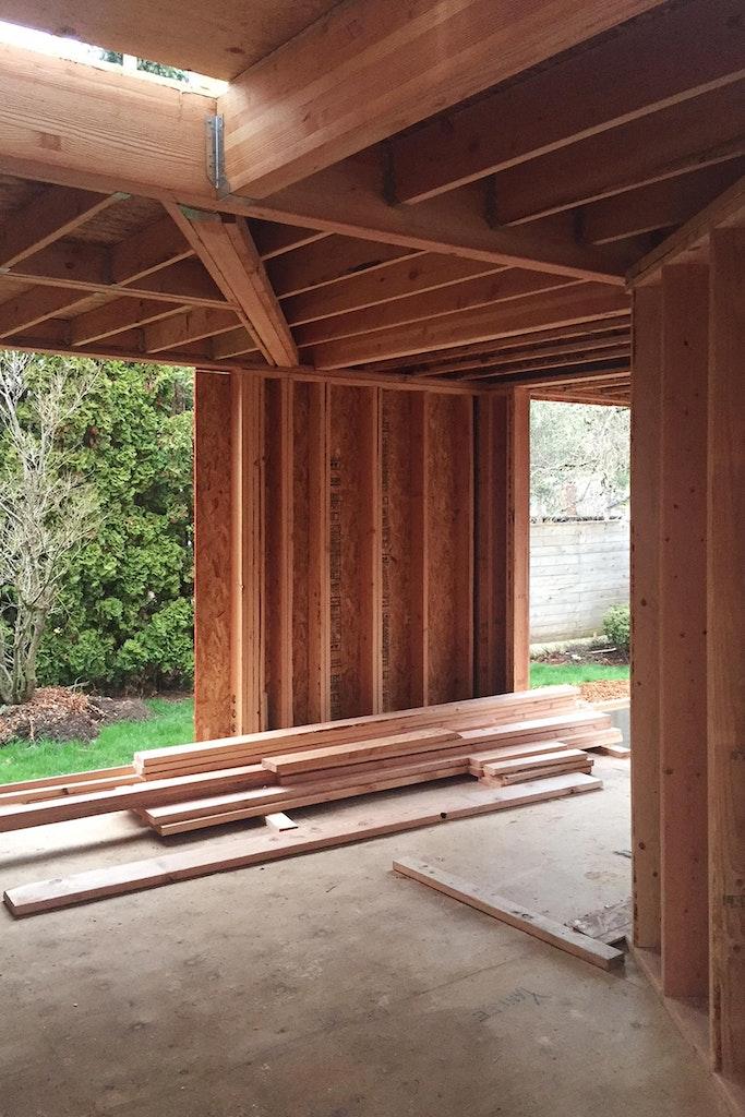 Shelton House. Entry area framing