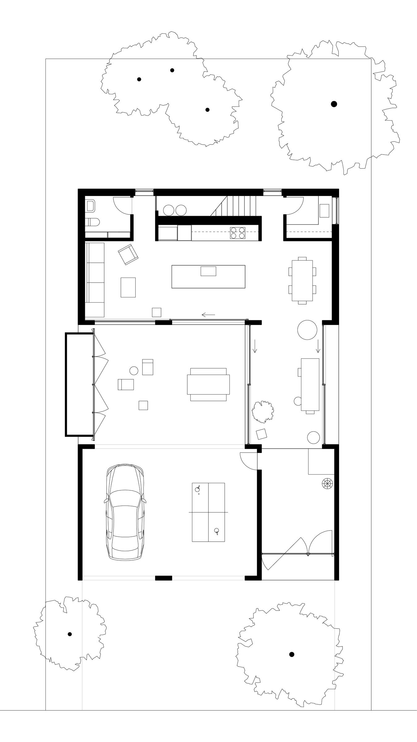 West Linn House. Ground floor plan